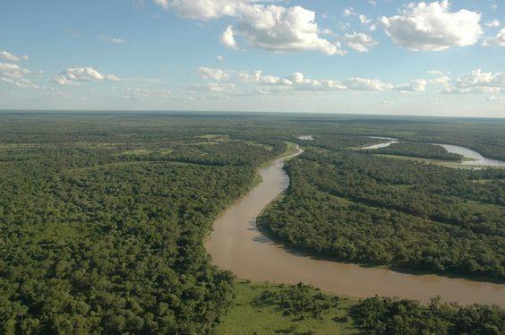 Río Bermejo - vista aérea - Chaco