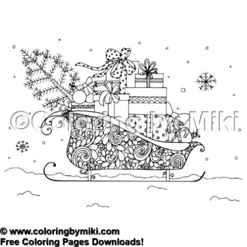 Winter Holiday Coloring Page 1474