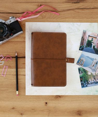 Another great find on #zulily! Walnut Faux Leather Traveler's Planner Set #zulilyfinds