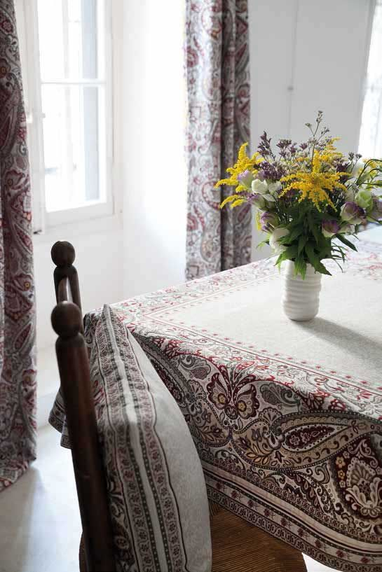 Paisley Tablecloth 57 X 57 Inches Made In Provence By Marat D
