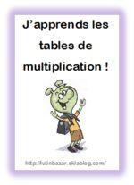 Des outils pour l 39 apprentissage des tables de for Livret multiplication