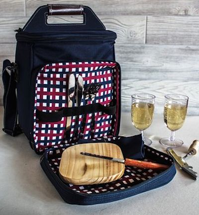personalized canvas picnic bag