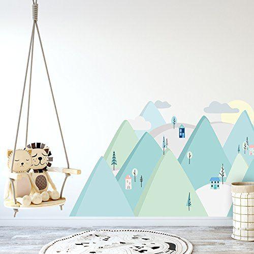 Affiliatelink Wandtattoo Wandaufkleber Bild Sticker Kinderzimmer 3d Xxl Mint Berge Skandinavisch Design Minimal Wandsticker Baby Kinderzimmer Kinder Zimmer