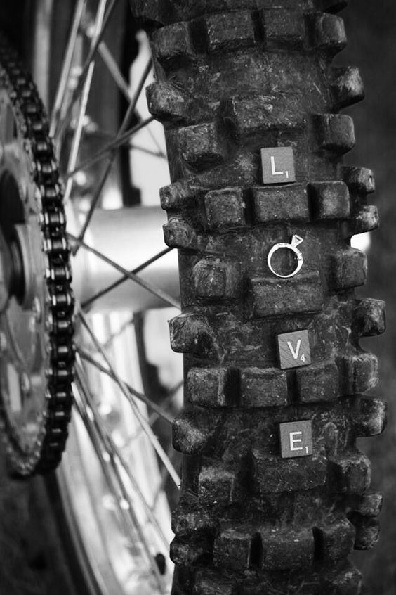 dirt bike engagement ring proposal