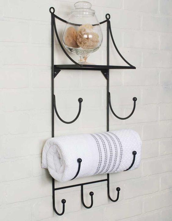 Towel Wall Rack with Shelf | Products | Pinterest | Wall Racks ...