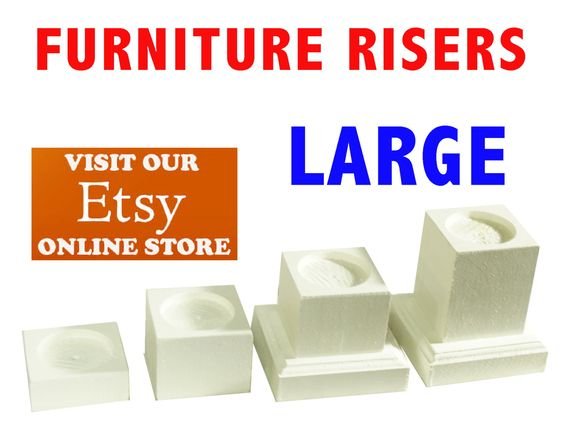Large Furniture Risers Bed Lifters By Furnitureriserscom On Etsy Future House Pinterest