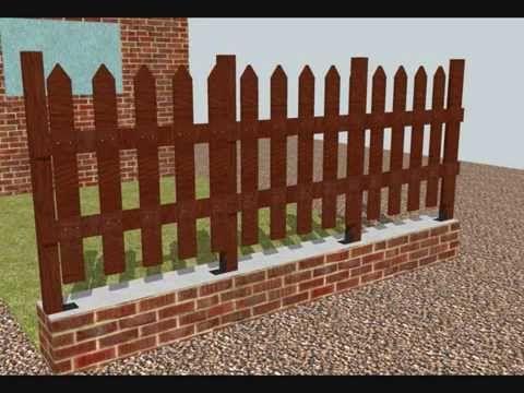Como hacer un cerco valla verja de madera ideas para el - Ideas para un jardin ...
