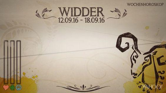 Wochenhoroskop: Widder (KW37 - 2016)