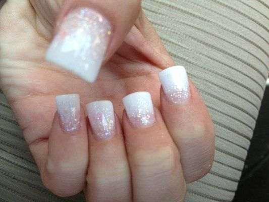 28 And Nails Ombre Pink White Image 4568305 By