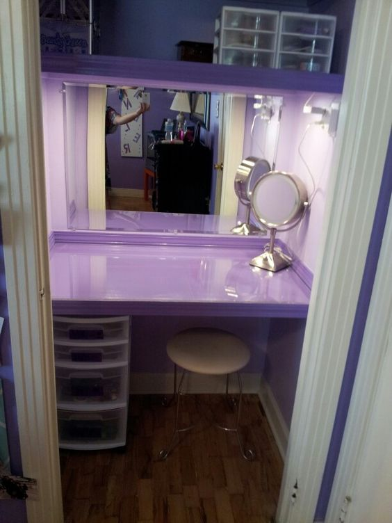 Closet turned into a vanity for my daughter I Made It