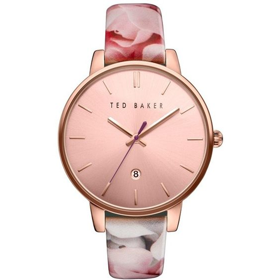 Women's Ted Baker London Leather Strap Watch, 40Mm ($100) ❤ liked on Polyvore featuring jewelry, watches, leather strap watches, ted baker watches and ted baker