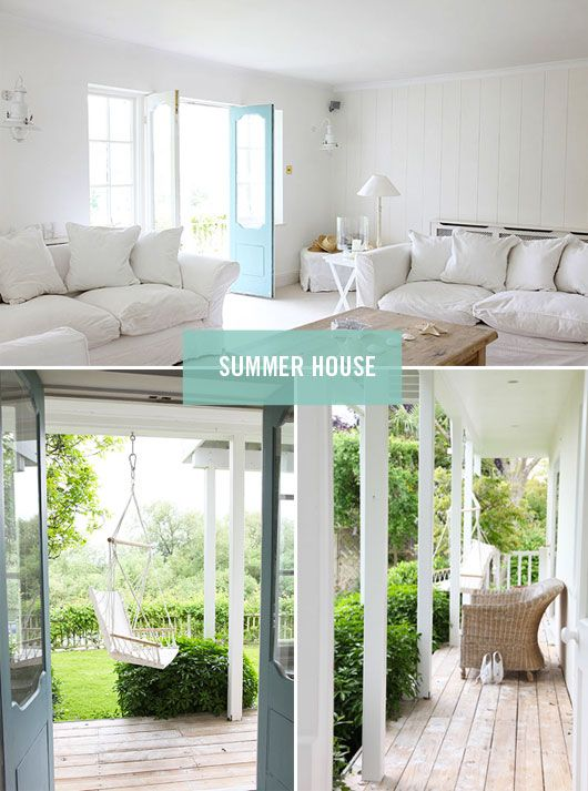 Sunroom and back porch inspiration.