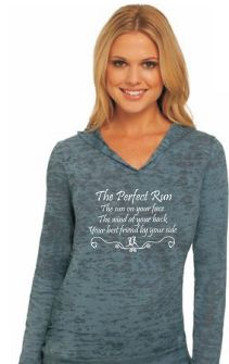 """The Perfect Run""- Slate Burnout Hoodie"