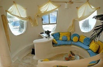 Inside the conch shell house . . .