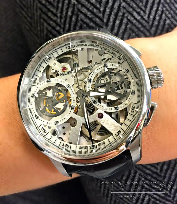 montre homme maurice lacroix masterpiece le chronographe