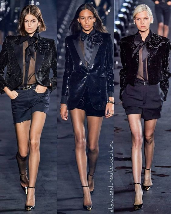 Paris Fashion week-Saint Laurent ready to wear fashion trend 2020