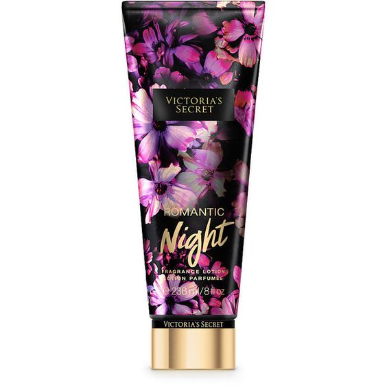 Victoria's Secret Romantic Night Fragrance Lotion ($18) ❤ liked on Polyvore featuring beauty products, bath & body products, body moisturizers, beauty and pink
