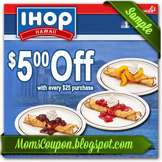 photograph regarding Ihop Coupons Printable identified as Ihop coupon code 2019