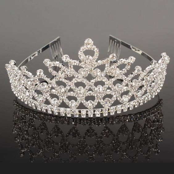 Wedding Bridal Rhinestone Crown Headband Jewelry Tiara Hairband Clip Pin Silver #Crown