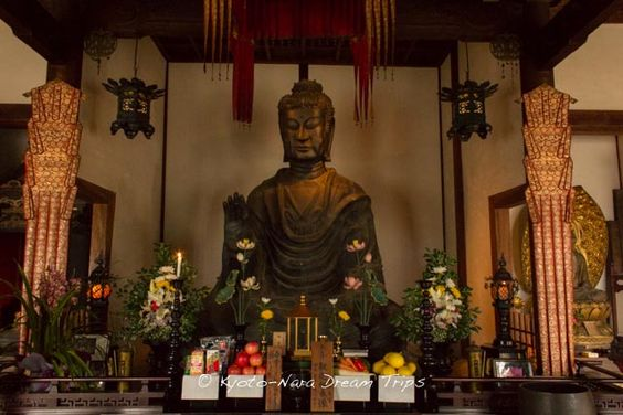 "This is the ""Asuka Great Buddha -飛鳥大仏"" statue inside the main hall of the Asuka-dera (飛鳥寺) in Nara. According to pamphlet you receive at the entrance, it is the oldest Buddha statue in Japan. It was cast in 609 AD by Kuratsukuri no Tori (Also known as Tori Busshi-止利仏師) by request of Empress Suiko (推古天皇) and Prince Shōtoku (聖徳太子).  #AsukaDera, #飛鳥寺, #Nara, #Asuka, #明日香村, #AsukaGreatBuddha, #飛鳥大仏"