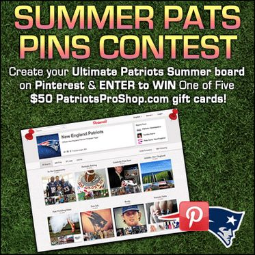 "One more day to enter!     Show us your best ""Summer Pats Pins"" board & enter to win Patriots ProShop gift cards!  www.patriots.com/..."