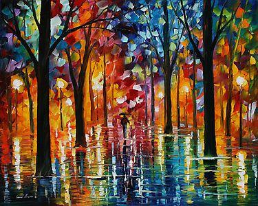 RAIN OF FIRE - LEONID AFREMOV by Leonid  Afremov