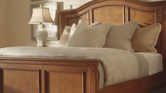 Recessed panels on a wood bed are classic and beautiful.