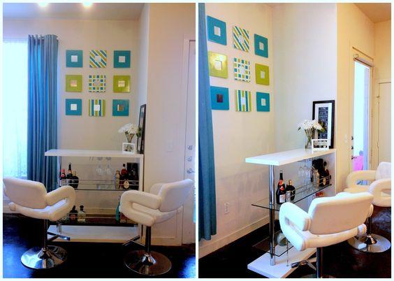 DIY: Why I love the Ikea malma mirrors ❤ #Turquoise living, #bar ...