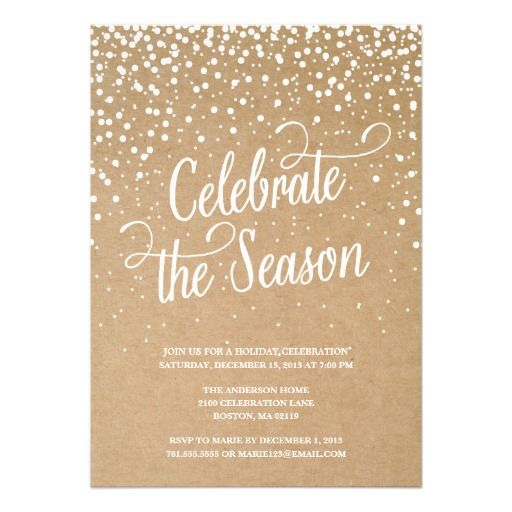 FIRST SNOW – Zazzle Party Invitations