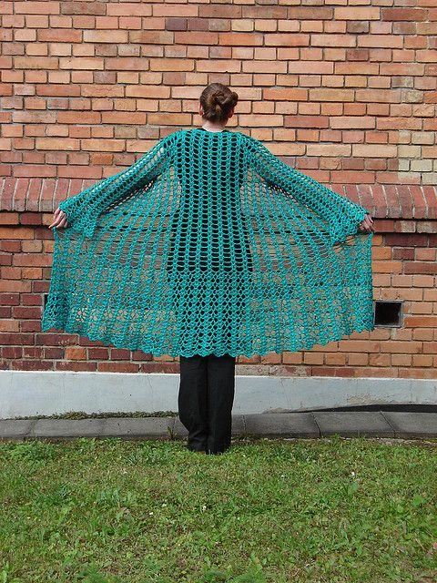 Gorgeous Lacy Crochet Duster: free pattern crochet ...