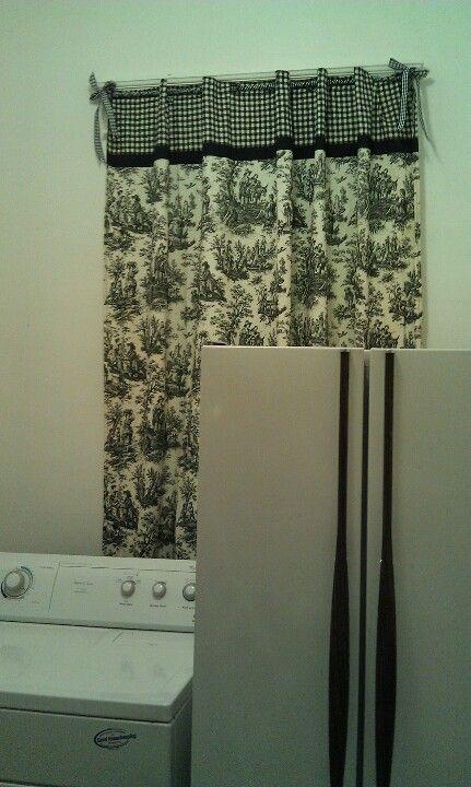 Dollar shower curtain from Goodwill!