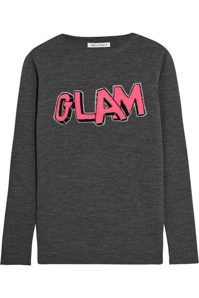 Bella Freud | Glam merino wool sweater | NET-A-PORTER.COM