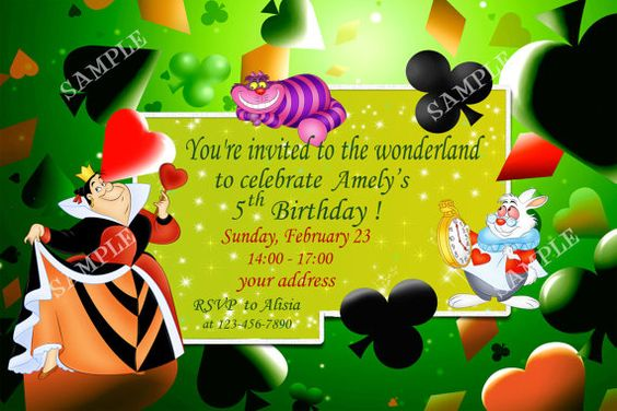 Alice in wonderland birthday invitation Birthday by SEVILIASHOP, $5.90