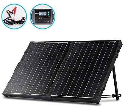 Amazon Com Renogy 100 Watt 12 Volt Monocrystalline Off Grid Portable Foldable 2pcs 50w Solar Panel Suitcase Built In Kickstand W In 2020 Solar Panels Kickstand Solar