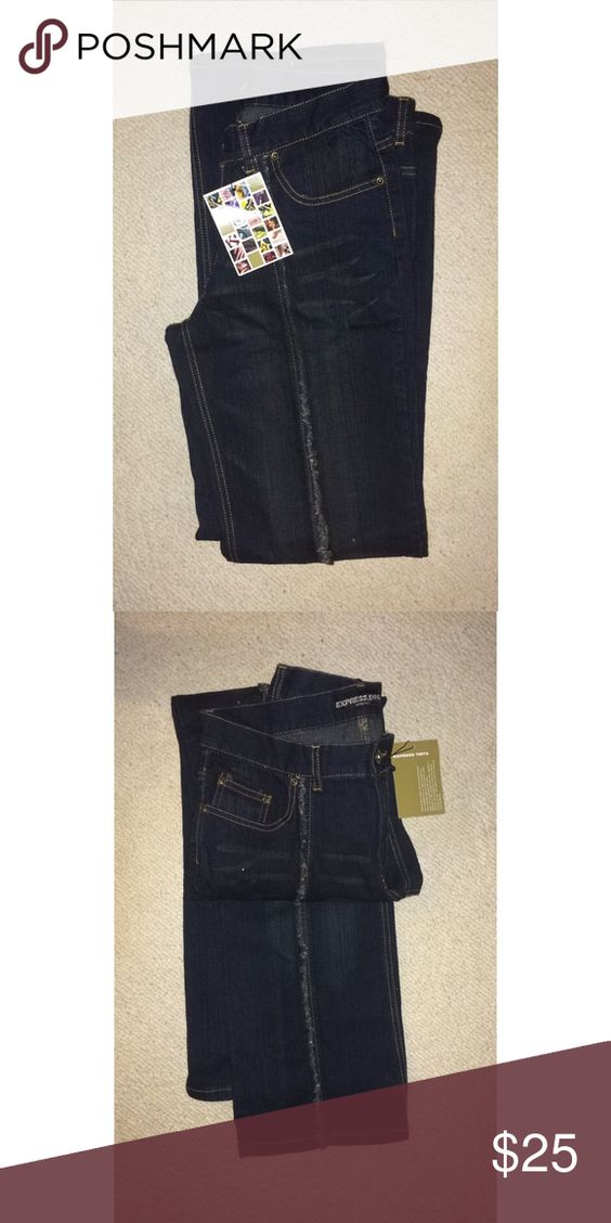 Express Jeans These jeans are different than any other kind of jeans you see now! It's older vibe can complete any outfit with a pop. If you like them, pleas make an offer! (: Express Jeans Straight Leg