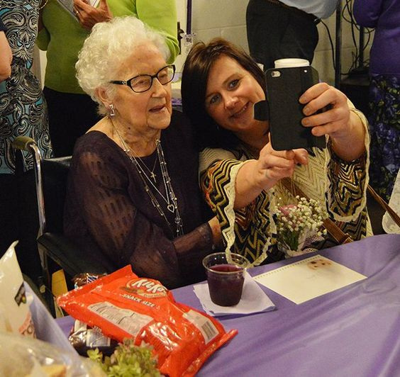 Centenarian Credits Family Good Friends with Her Longevity