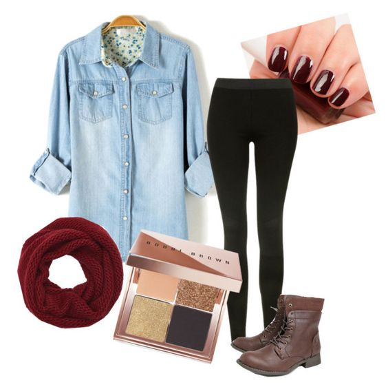 """""""Untitled #25"""" by scoda on Polyvore featuring Essie, Topshop, Wyatt and Bobbi Brown Cosmetics"""