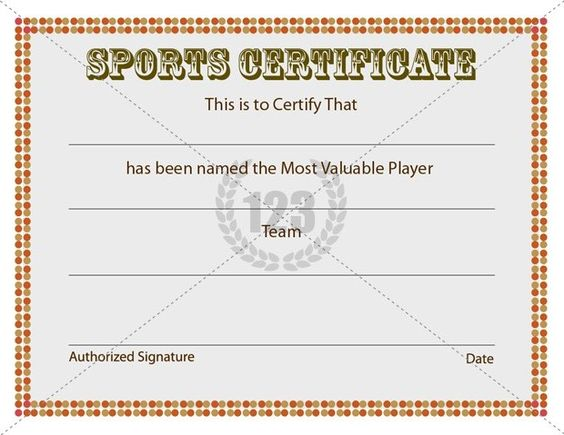 Most Valuable Player Sports Certificates Templates Free Download – Academic Certificate Templates Free