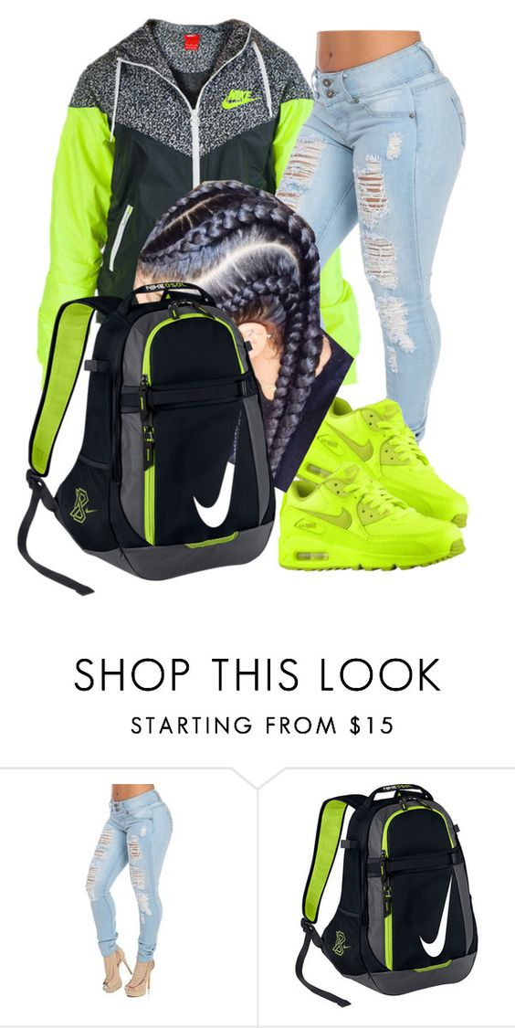"""""""Untitled #198"""" by darkskinn-awa ❤ liked on Polyvore featuring NIKE"""
