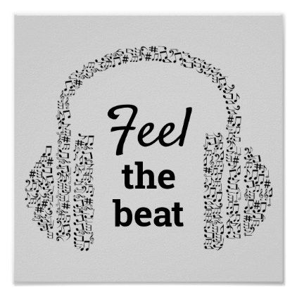 Feel The Beat Dj Music Quote Modern Poster Zazzle Com In 2020 Music Lyrics Art Music Quotes Music Wallpaper