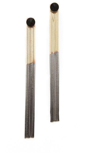 Iosselliani Long Fringe Earrings