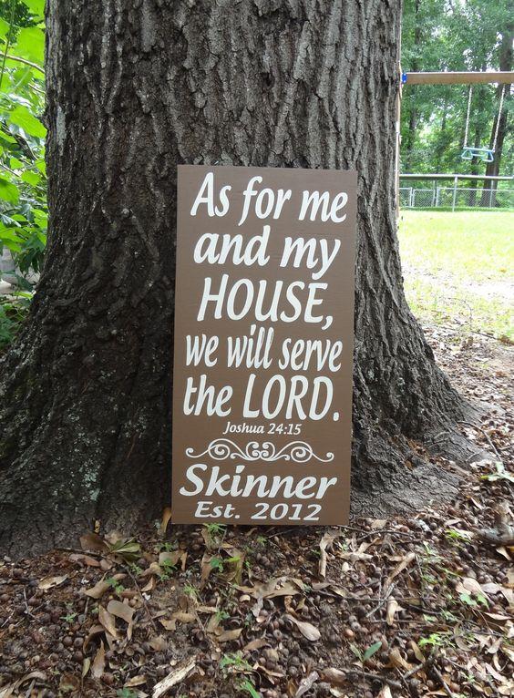 Eu e a minha casa serviremos ao Senhor.