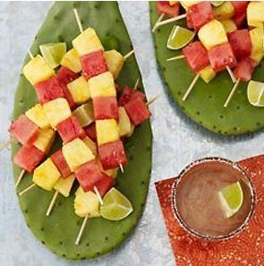 fruits brochette