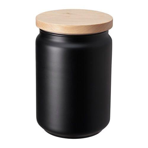Eklatera Jar With Lid Black 1 L Kitchen Jars Kitchen Jars Storage Jar Storage