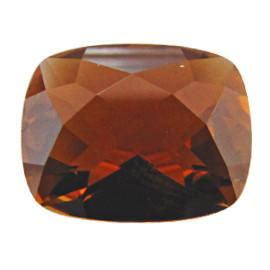 2.23 ct Cushion Cut Tourmaline Orangish Brown -Gold Crane & Co.