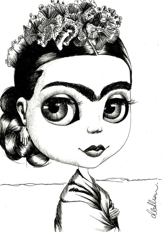 frida kahlo coloring pages - studios coloring and coloring pages on pinterest