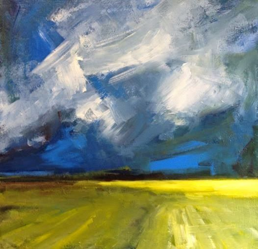 My new paintings: yellow fields