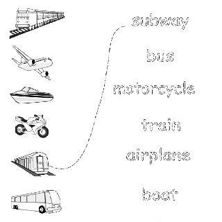 Transportation - English Printouts for Kids   English Worksheets ...