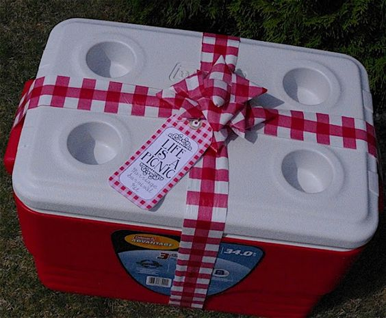 Life is a Picnic - Marriage Survival Kit or bridal shower gift. So cute! I love it.