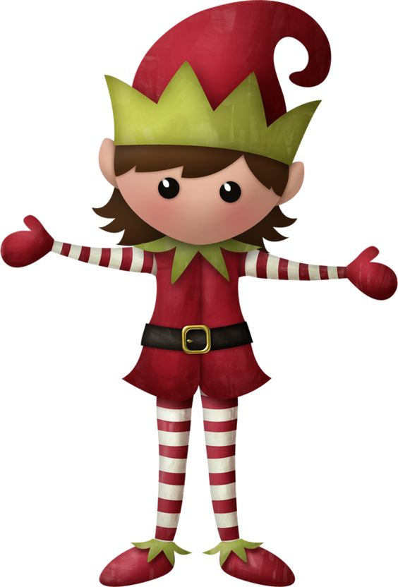 CHRISTMAS GIRL ELF CLIP ART | Lutins des Fêtes | Pinterest | Clip ...